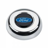 Grant Steering Wheels - Grant Ford Oval Horn Button - Chrome
