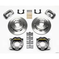 Wilwood Engineering - Wilwood Forged Dynalite Rear Parking Brake Kit - Polished Caliper - Plain Face Rotor - Big Ford New Style