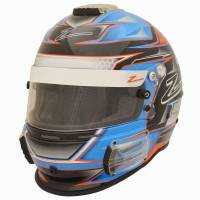 Zamp - Zamp RZ-42 Honeycomb Graphic Helmet - Orange/Blue