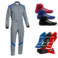 Sparco - Sparco Victory RS-7 Boot Cut Suit Package - Grey/Blue