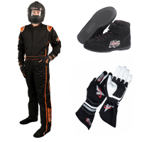 Velocity Race Gear - Velocity 1 Sport Suit Package - Black/Fluo Orange