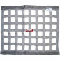 "RJS Racing Equipment - RJS Ribbon Window Net - Gray - 18"" x 24"""