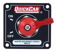 QuickCar Racing Products - QuickCar Master Disconnect Switch - Solid Black Plate w/ Alternator Posts