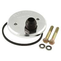 "Peterson Fluid Systems - Peterson Oil Filter Block Off Plate - Chevy Bow Tie Block -12 AN Fitting w/ (2) 5/16""-18 Bolt Mount"