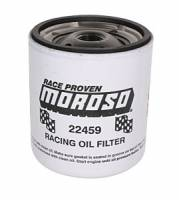 "Moroso Performance Products - Moroso Short Chevy Racing Oil Filter - Chevy and Others - 13/16"" -16 UNF Thread"