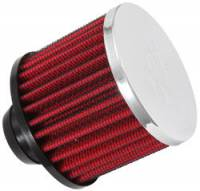 "K&N Filters - K&N Push-In Valve Cover Breather Vent Filter - Rubber Base - 1-1/2"" Hole"