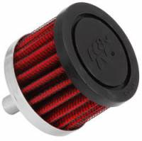 "K&N Filters - K&N Steel Base Fuel Cell, Rear End Breather Vent Filter (-08 AN) - 3/8"" Flange I.D."