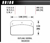 Hawk Performance - Hawk Performance Black Brake Pads - Fits Wilwood Dynalite, Outlaw 2000, Sierra Mini GN