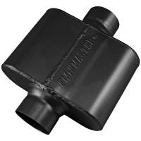 "Flowmaster - Flowmaster 10 Series Delta Force Race Muffler - 2.5"" Center Inlet, 2.5"" Center Outlet - Aggressive Sound - 5.75"" x 8.00"" x 3.00"""
