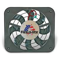 "Flex-A-Lite - Flex-A-Lite Low Profile 12"" Electric Fan - 1250 CFM - Amp Draw: 9.5 - Adjustable Thermostat 180°-240° - Air Conditioning Relay"