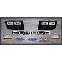 Five Star Race Car Bodies - Five Star Headlight Nose Only Graphics Kit: 92 Camaro