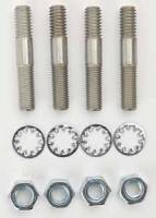 "Edelbrock - Edelbrock Carburetor Stud Kit - Studs/Nuts/Washers - 5/16""-18 Thread - 1.75"" Length - Set of 4"