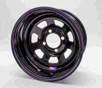 "Bart Wheels - Bart Mini Stock Wheel - Black - 13"" x 7"" - 4 x 4"" Bolt Circle - 3"" Back Spacing - 16 lbs."