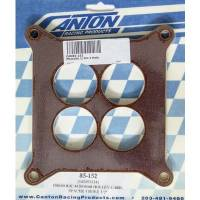 "Canton Racing Products - Canton Phenolic 1/2"" 4-Hole Carburetor Spacer - Holley 600 CFM & Up"