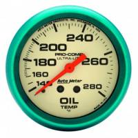 "Auto Meter - Auto Meter Ultra-Nite Oil Temperature Gauge - 2-5/8"" - 140°-280°"