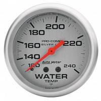"Auto Meter - Auto Meter Liquid-Filled Water Temperature Gauges - 2-5/8"" - 120°-240°"