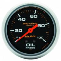 "Auto Meter - Auto Meter Pro-Comp Liquid Filled Oil Pressure Gauge - 2-5/8"" - 0-100 PSI"
