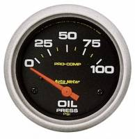 "Auto Meter - Auto Meter Pro-Comp Electric Oil Pressure Gauge - 2-5/8"" - 0-100 PSI"