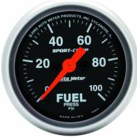 "Auto Meter - Auto Meter 2-1/16"" Mini Sport-Comp Electric Fuel Pressure Gauge - 0-100 PSI"