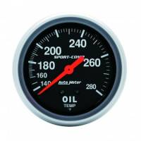 Auto Meter Products - Auto Meter 140-280°  Sport-Comp Oil Temperature Gauge - 2-5/8""