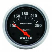 "Auto Meter - Auto Meter Sport-Comp Electric Water Temperature Gauge - 2-5/8"" - 100°-250°"