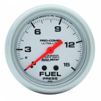 "Auto Meter Products - Auto Meter Ultra-Lite Fuel Pressure Gauge - 2-5/8"" - 0-15 PSI"