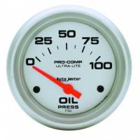 "Auto Meter Products - Auto Meter Ultra-Lite Electric Oil Pressure Gauge - 2-5/8"" - 0-100 PSI"
