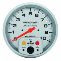 "Auto Meter - Auto Meter 10,000 RPM Ultra-Lite 5"" In-Dash Memory Single Range Tachometer w/ Peak RPM Memory"