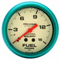 "Auto Meter Products - Auto Meter Ultra-Nite Fuel Pressure Gauge - 2-5/8"" - 0-15 PSI"