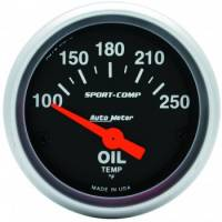 "Auto Meter - Auto Meter 2-1/16"" Mini Sport-Comp Electric Oil Temperature Gauge - 100°-250°"