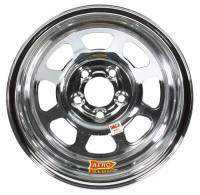 "Aero Race Wheel - Aero 52 Series IMCA Rolled Wheel - Chrome - 15"" x 8"" - 5 x 4.75"" Bolt Circle - 2"" Back Spacing - 19 lbs."