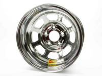 "Aero Race Wheel - Aero 52 Series IMCA Rolled Wheel - Chrome - 15"" x 8"" - 5 x 5"" Bolt Circle - 3"" Back Spacing - 19 lbs."