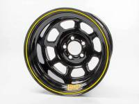 "Aero Race Wheel - Aero 58 Series Rolled Wheel - Black - 15"" x 10"" - 5 x 4.75"" Bolt Circle - 4"" Back Spacing - 21 lbs."