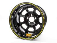 "Aero Race Wheel - Aero 51 Series Spun Wheel - Black - 15"" x 8"" - 5 x 5"" Bolt Circle - 4"" Back Spacing - 18 lbs."