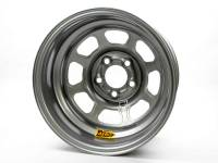 "Aero Race Wheel - Aero 52 Series IMCA Rolled Wheel - Silver - 15"" x 8"" - 5 x 4.75"" Bolt Circle - 1"" Back Spacing - 19 lbs."