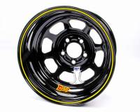 "Aero Race Wheel - Aero 52 Series IMCA Rolled Wheel - Black - 15"" x 8"" - 5 x 4.75"" Bolt Circle - 1"" Back Spacing - 19 lbs."