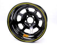 "Aero Race Wheel - Aero 52 Series IMCA Rolled Wheel - Black - 15"" x 8"" - 5 x 4.75"" Bolt Circle - 4"" Back Spacing - 19 lbs."