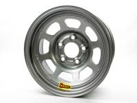 "Aero Race Wheel - Aero 50 Series Rolled Wheel - Silver - 15"" x 10"" - 5 x 4.75"" Bolt Circle - 4"" Back Spacing - 25 lbs."