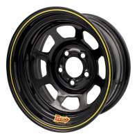 "Aero Race Wheel - Aero 50 Series Rolled Wheel - Black - 15"" x 10"" - 5 x 5"" Bolt Circle - 4"" Back Spacing - 25 lbs."