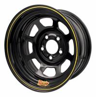 "Aero Race Wheel - Aero 50 Series Rolled Wheel - Black - 15"" x 8"" - 5 x 4.5"" Bolt Circle - 4"" Back Spacing - 23 lbs."