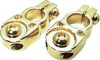 Allstar Performance - Allstar Performance 24K Gold Plated Top-Mount Battery Terminals - Set of 2