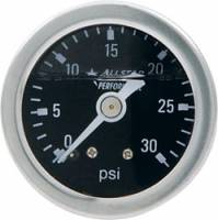 "Allstar Performance - Allstar Performance 0-30 PSI 1-1/2"" Gauge - Glycerin Filled"