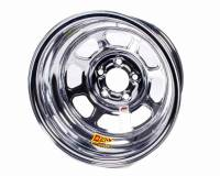 "Aero Race Wheel - Aero 52 Series IMCA Rolled Wheel - Chrome - 15"" x 8"" - 5 x 4.75"" Bolt Circle - 1"" Back Spacing - 19 lbs."