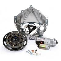 "Quarter Master - Quarter Master 3 Disc 5.5"" V-Drive Clutch, Aluminum Bellhousing Package - Fits Chevy Crate Engine - 1-5/32""-26 Spline - Fits 1986 & Up Externally Balanced SB Chevy"