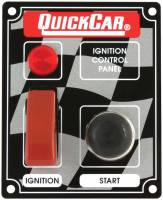 QuickCar Racing Products - QuickCar ICP05 Ignition Panel - Flip Cover Ignition Switch w/ Start Button & 1 Pilot Light