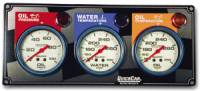 QuickCar Racing Products - QuickCar 3 Gauge Panel w/ Auto Meter Lite Nite Gauges - OP/WT/FP