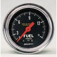 "Auto Meter Products - Auto Meter Traditional Chrome 2-1/16"" Fuel Pressure Gauge - 0-15 PSI"