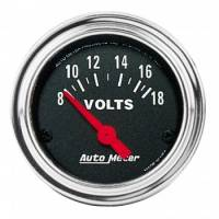 "Auto Meter - Auto Meter Traditional Chrome 2-1/16"" Voltmeter Gauge -0-16 Volts"