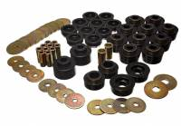 Energy Suspension - Energy Suspension Body Mount Bushing Set - Polyurethane - Black - 78-88 Buick, Chevy, Oldsmobile, Pontiac