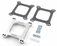 "Mr. Gasket - Mr. Gasket Carburetor Spacer - Aluminum - Natural - 1"" Thick - Open Center"